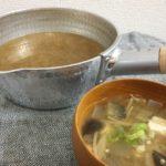 雪平鍋と味噌汁